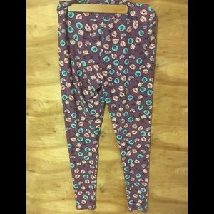 Lularoe TC tall curvy purple deer bear leggings